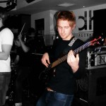 back in the day on a Ryan Inglis gig, with my 2004 Warwick Thumb Bolt-on.